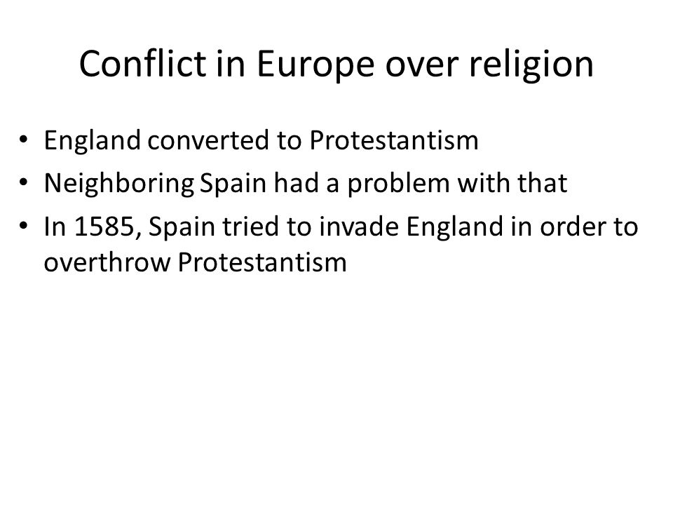 Conflict in Europe over religion