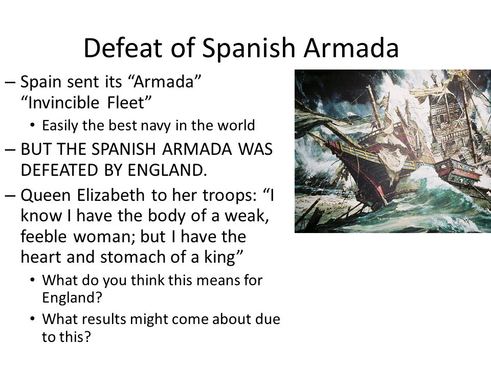 Defeat of Spanish Armada
