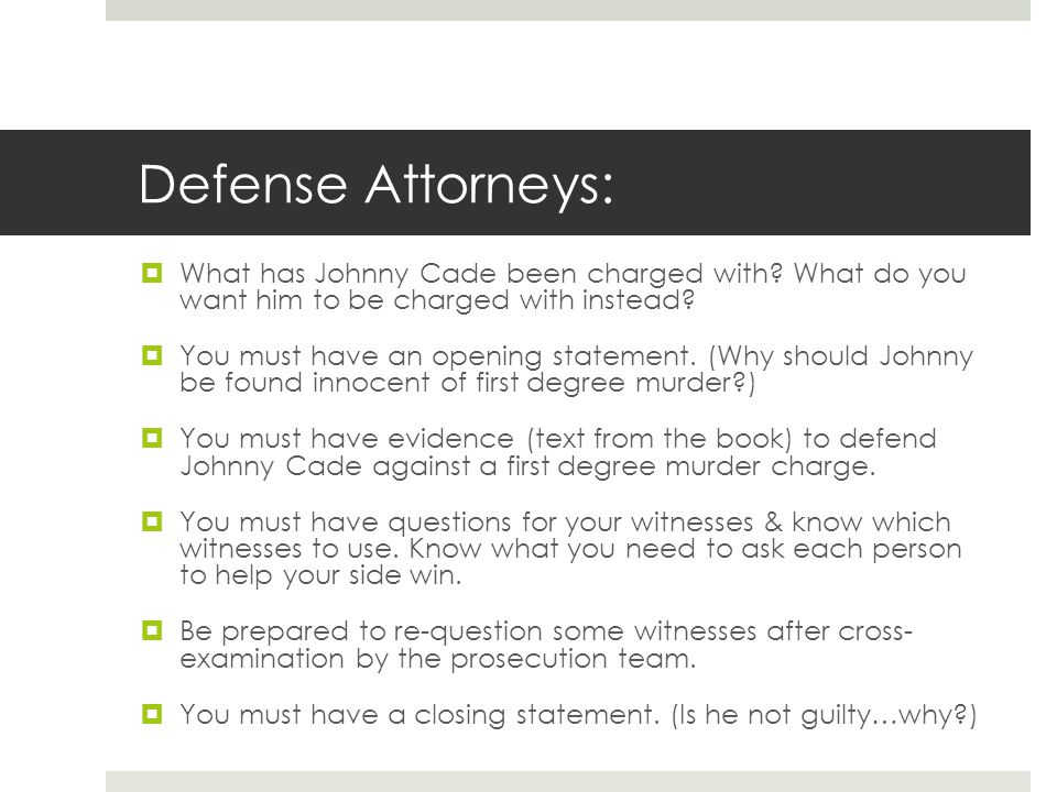 mock trial of johnny cade ppt video online download