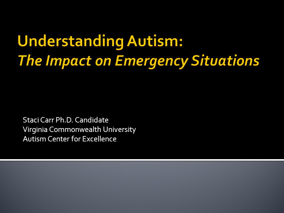 Understanding Autism: The Impact on Emergency Situations