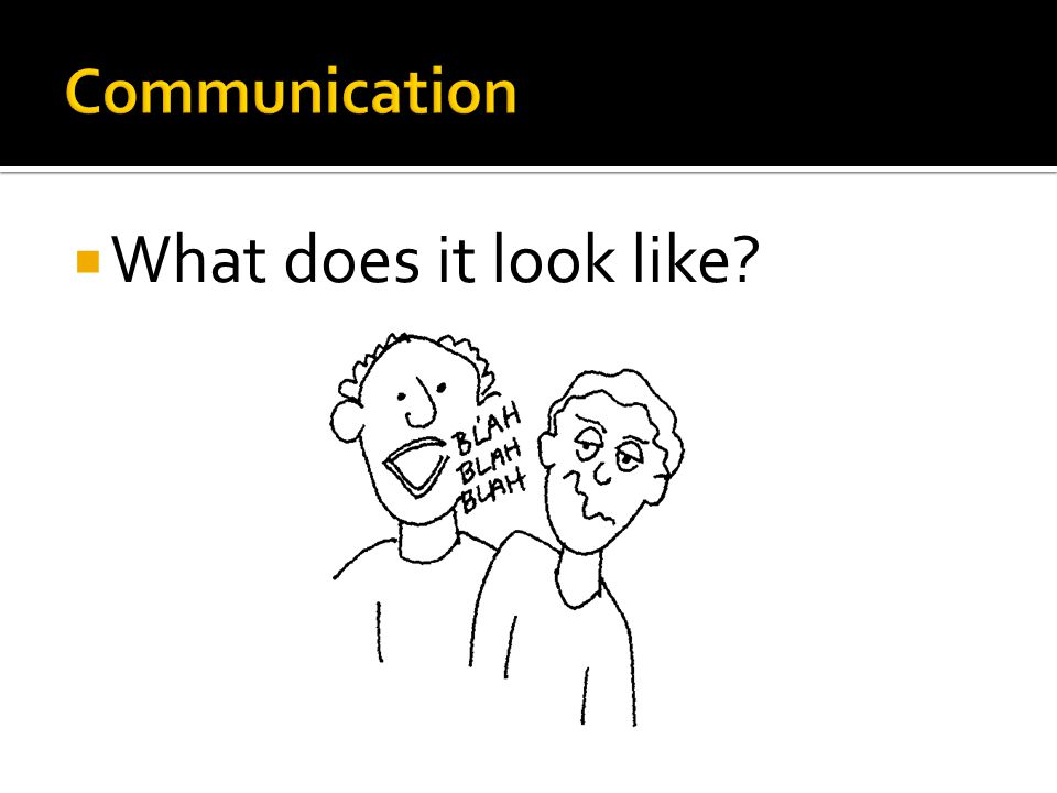 Communication What does it look like