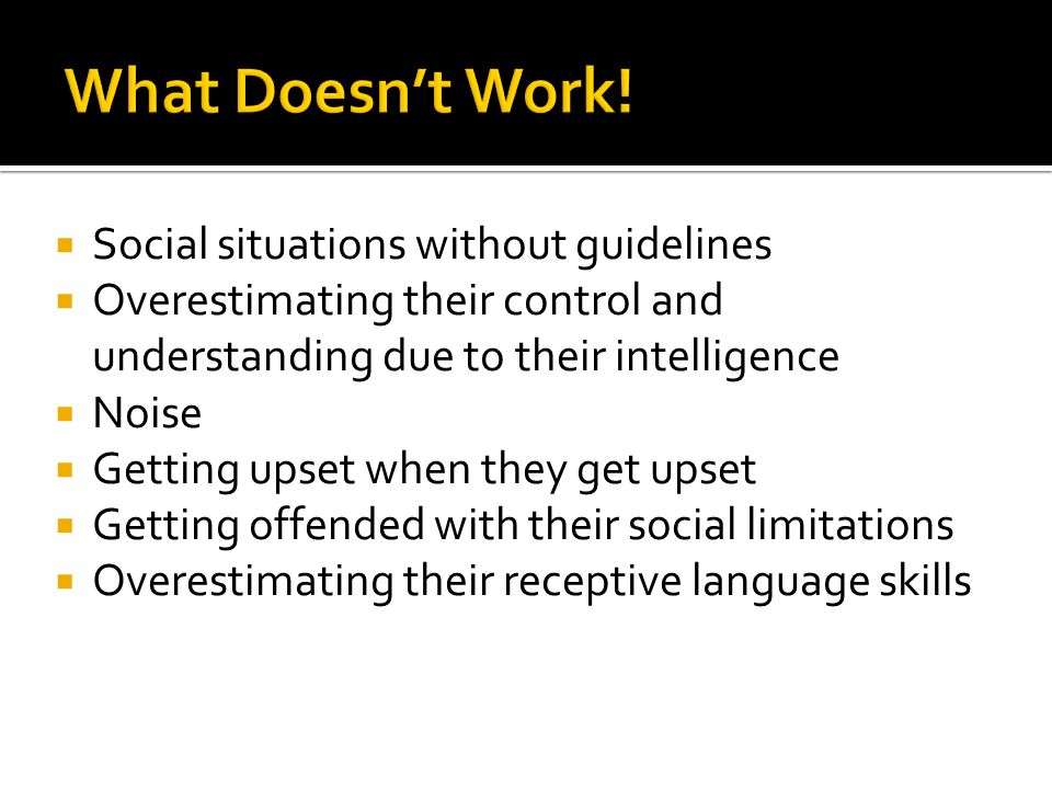 What Doesn't Work! Social situations without guidelines