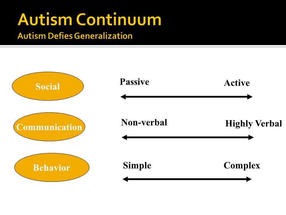 Autism Continuum Autism Defies Generalization