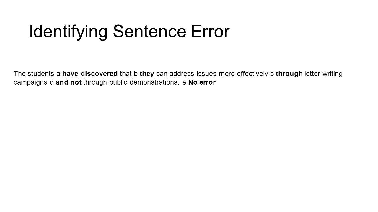 Identifying Sentence Error