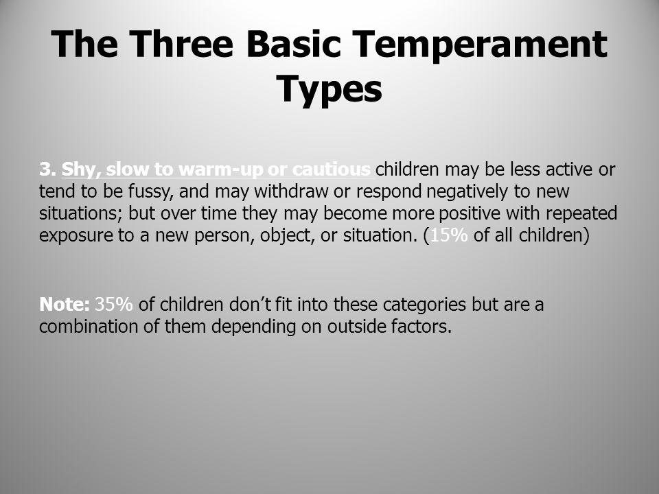 The Three Basic Temperament Types