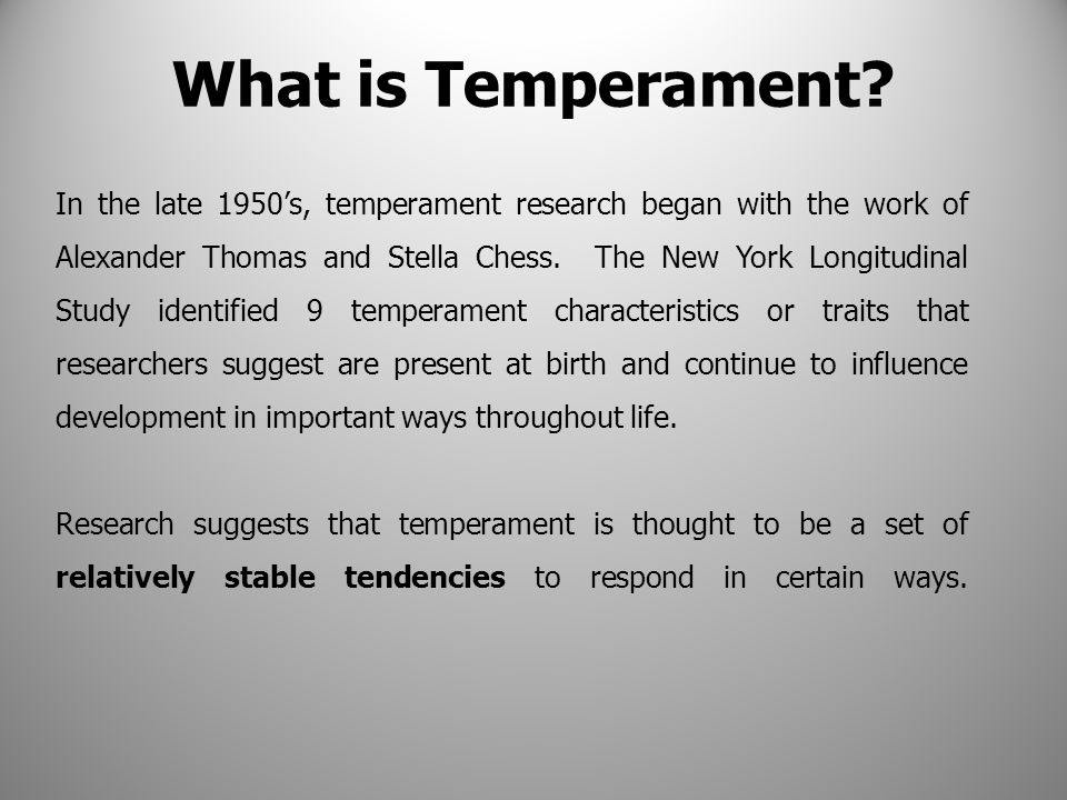 What is Temperament