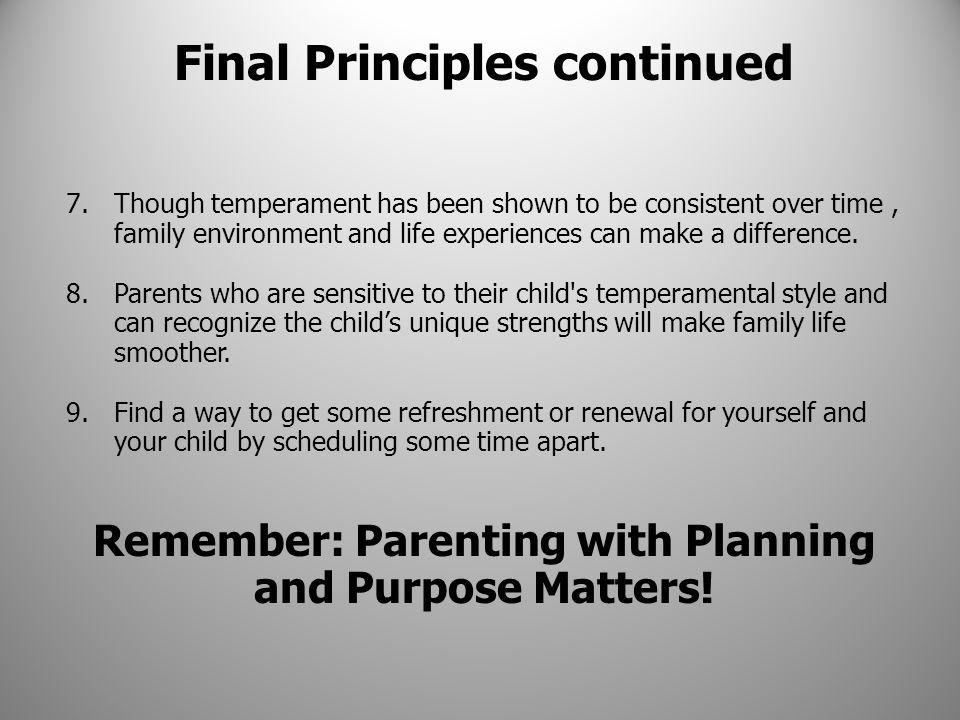 Final Principles continued
