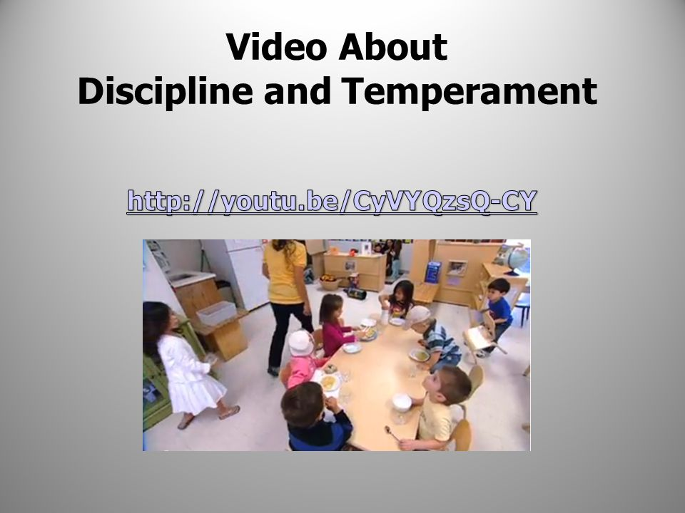 Video About Discipline and Temperament