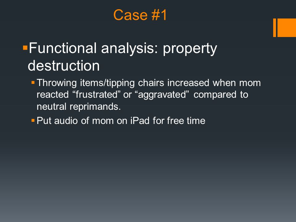 Functional analysis: property destruction