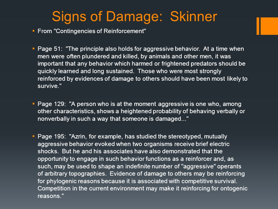Signs of Damage: Skinner