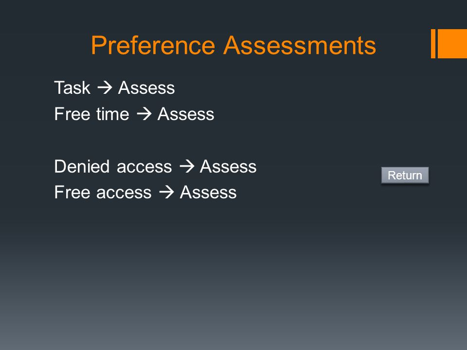 Preference Assessments