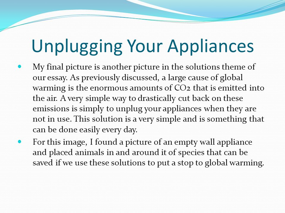 Unplugging Your Appliances