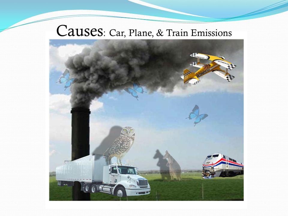 Causes: Car, Plane, & Train Emissions