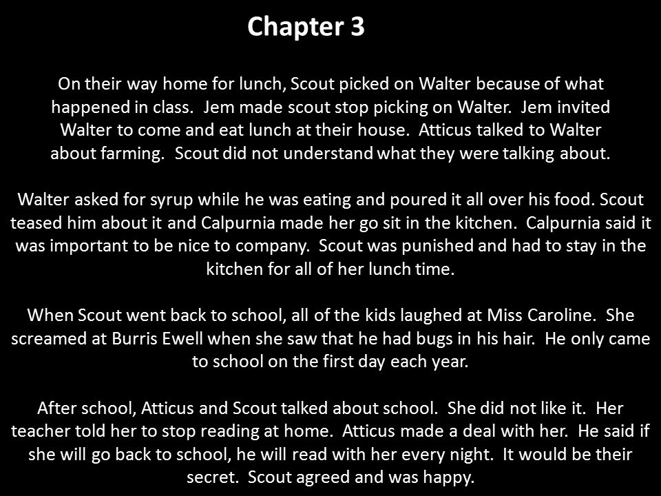 Chapter 3 On their way home for lunch, Scout picked on Walter because of what.