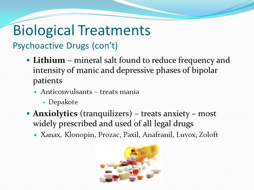 Biological Treatments Psychoactive Drugs (con't)