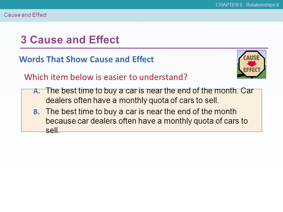 3 Cause and Effect Words That Show Cause and Effect
