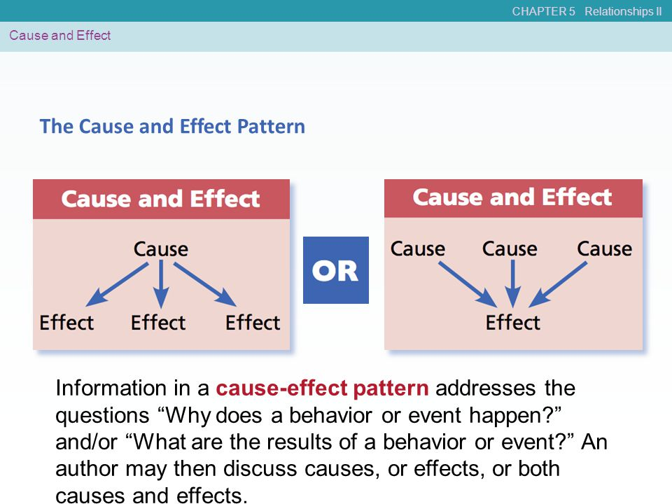 The Cause and Effect Pattern