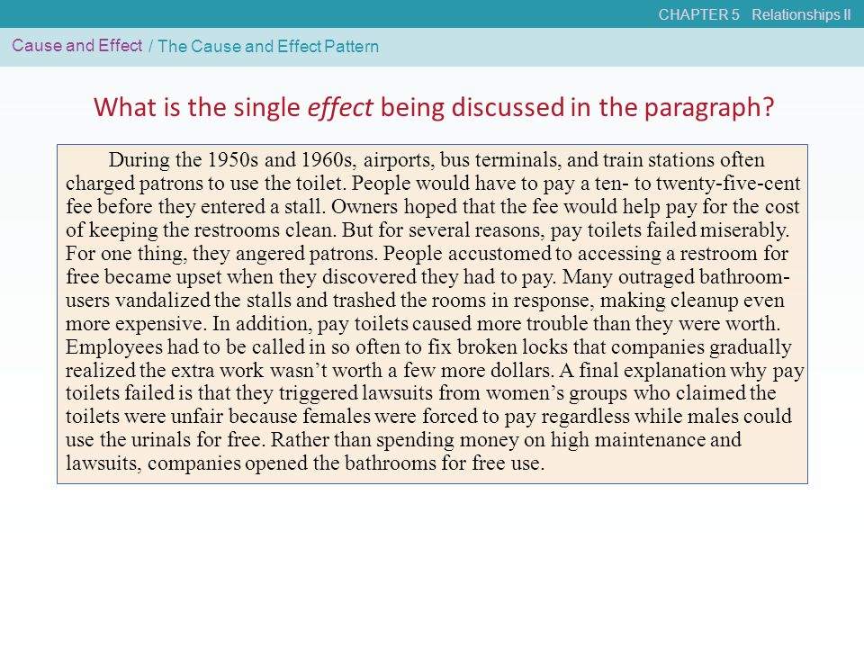 What is the single effect being discussed in the paragraph