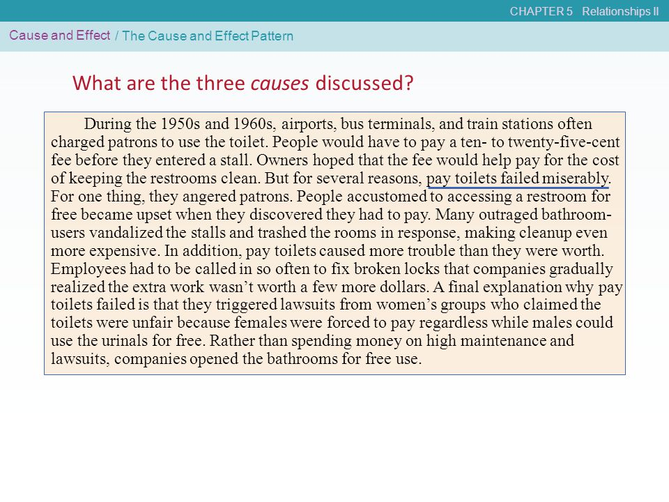 What are the three causes discussed