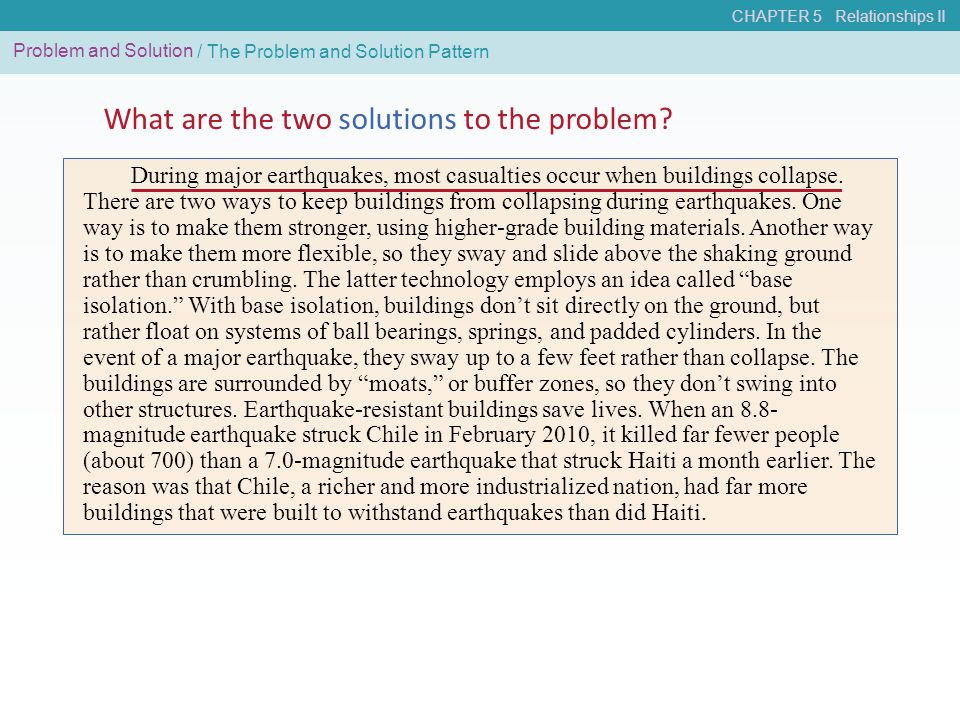 What are the two solutions to the problem