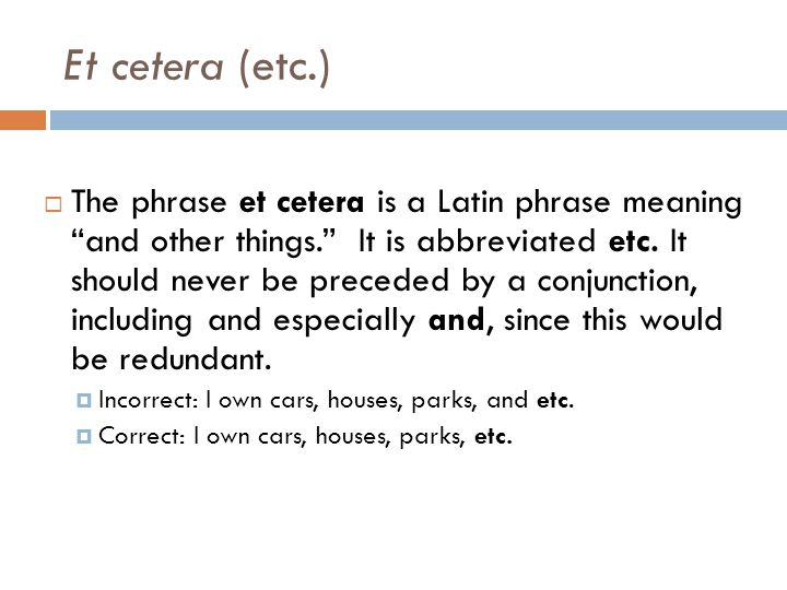 Et cetera (etc.)