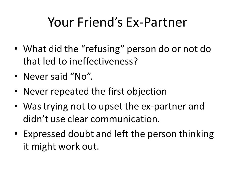 Your Friend's Ex-Partner
