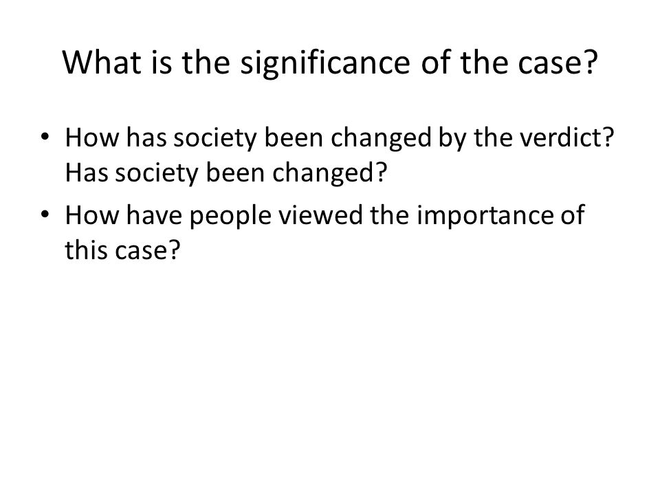 What is the significance of the case