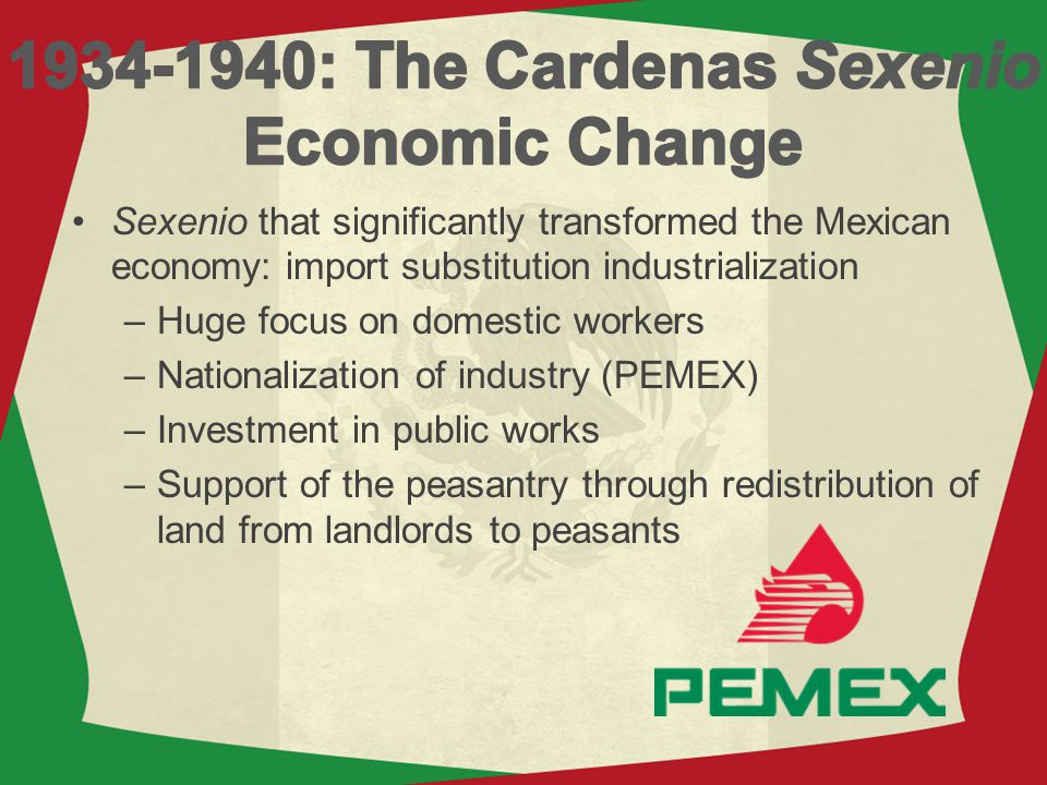 1934-1940: The Cardenas Sexenio Economic Change