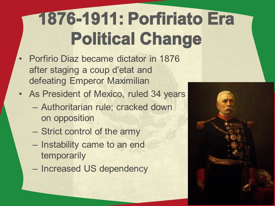 1876-1911: Porfiriato Era Political Change