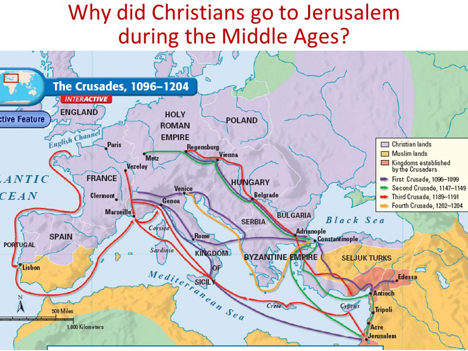 Why did Christians go to Jerusalem during the Middle Ages
