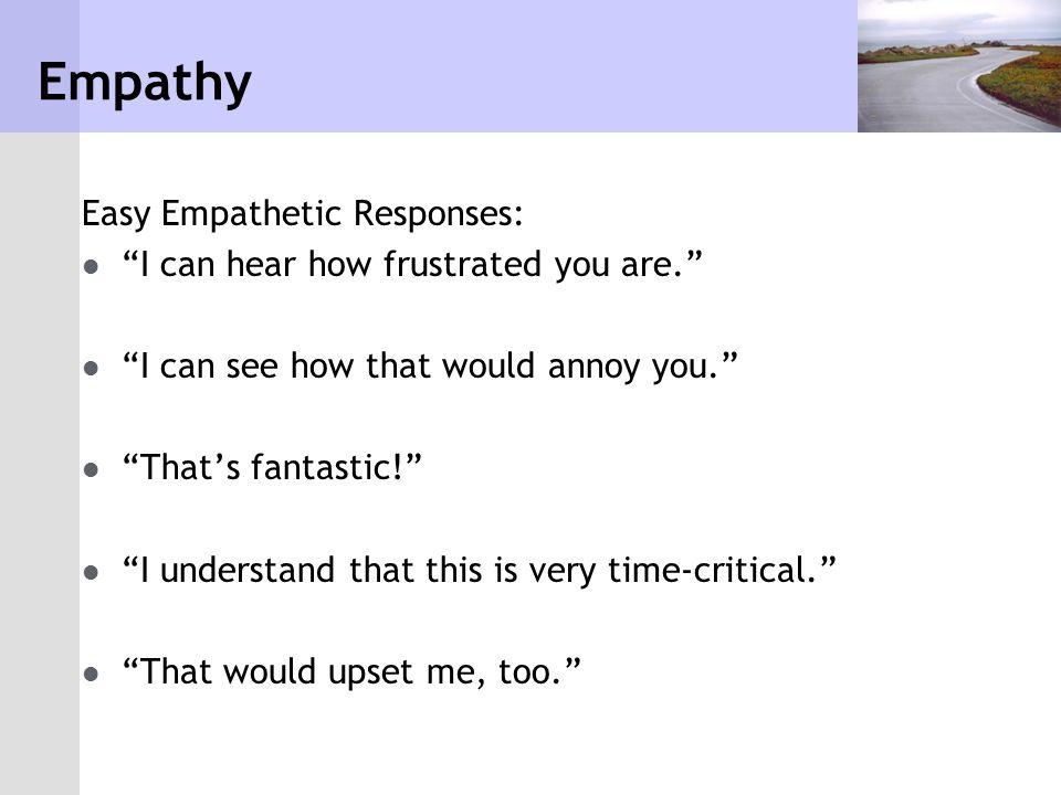 Empathy Easy Empathetic Responses: