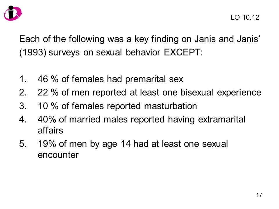 Each of the following was a key finding on Janis and Janis'
