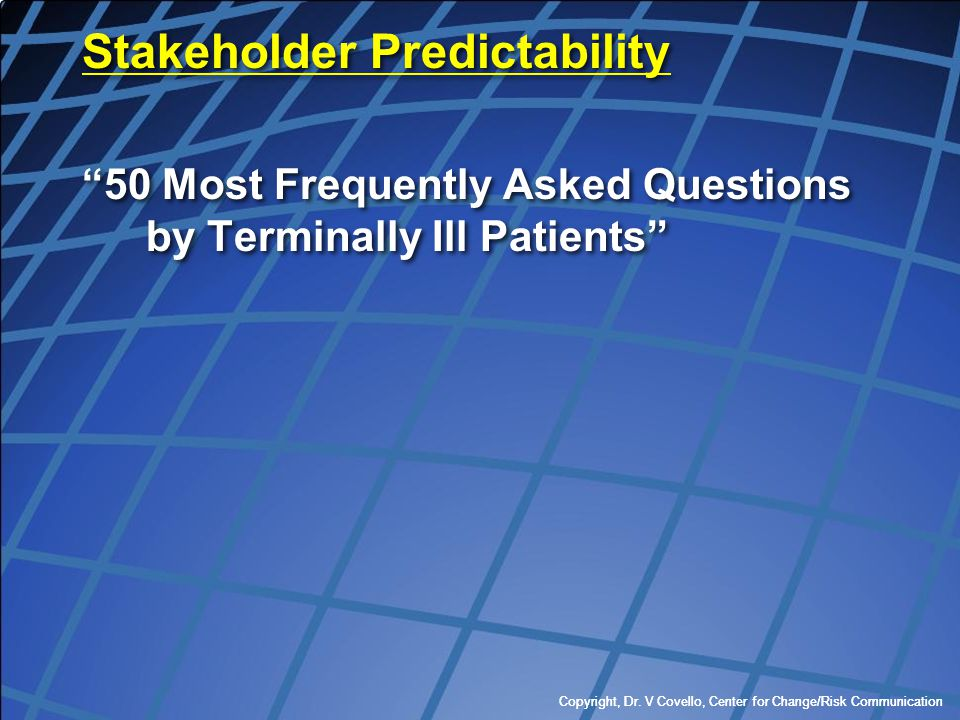 Stakeholder Predictability