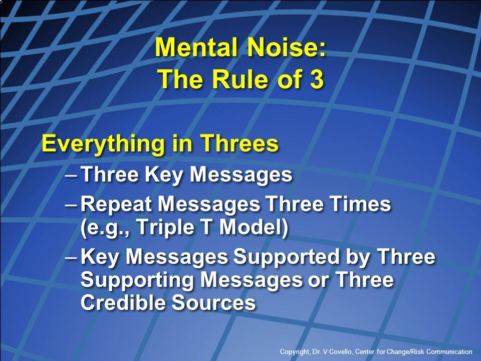 Mental Noise: The Rule of 3