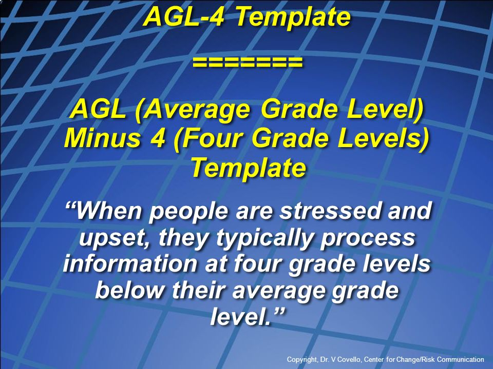 AGL (Average Grade Level) Minus 4 (Four Grade Levels) Template
