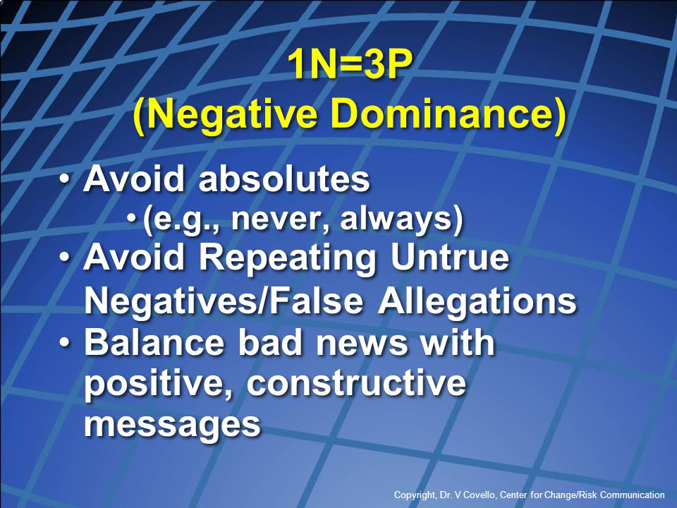 1N=3P (Negative Dominance)