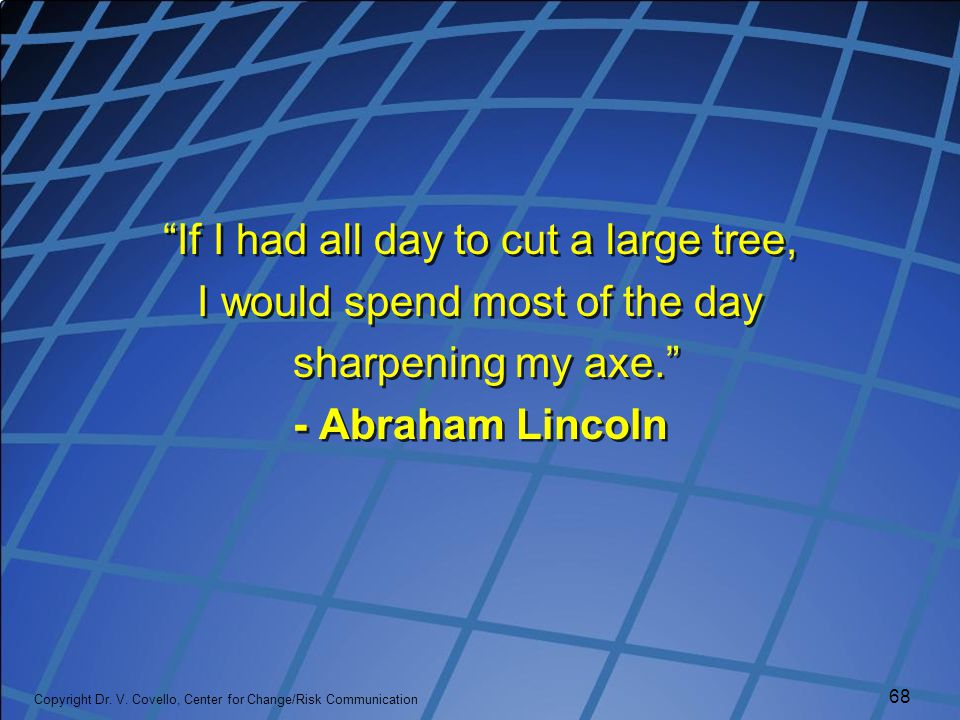 If I had all day to cut a large tree, I would spend most of the day