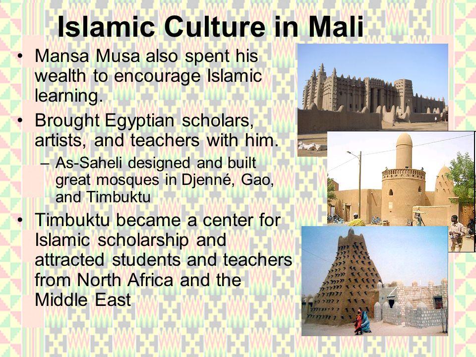 Islamic Culture in Mali