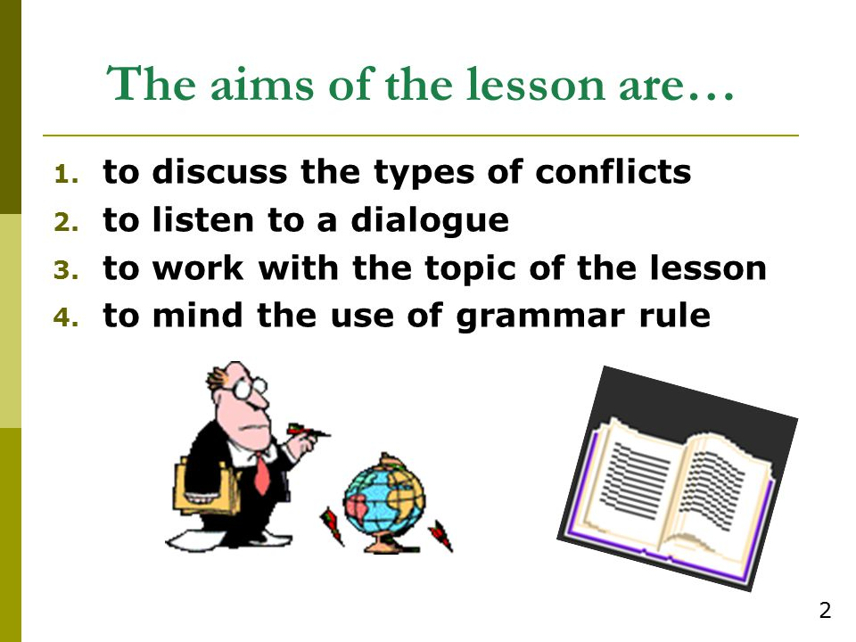 The aims of the lesson are…