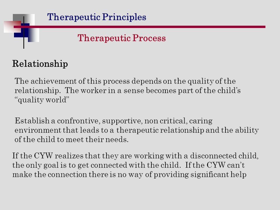 Therapeutic Process Relationship
