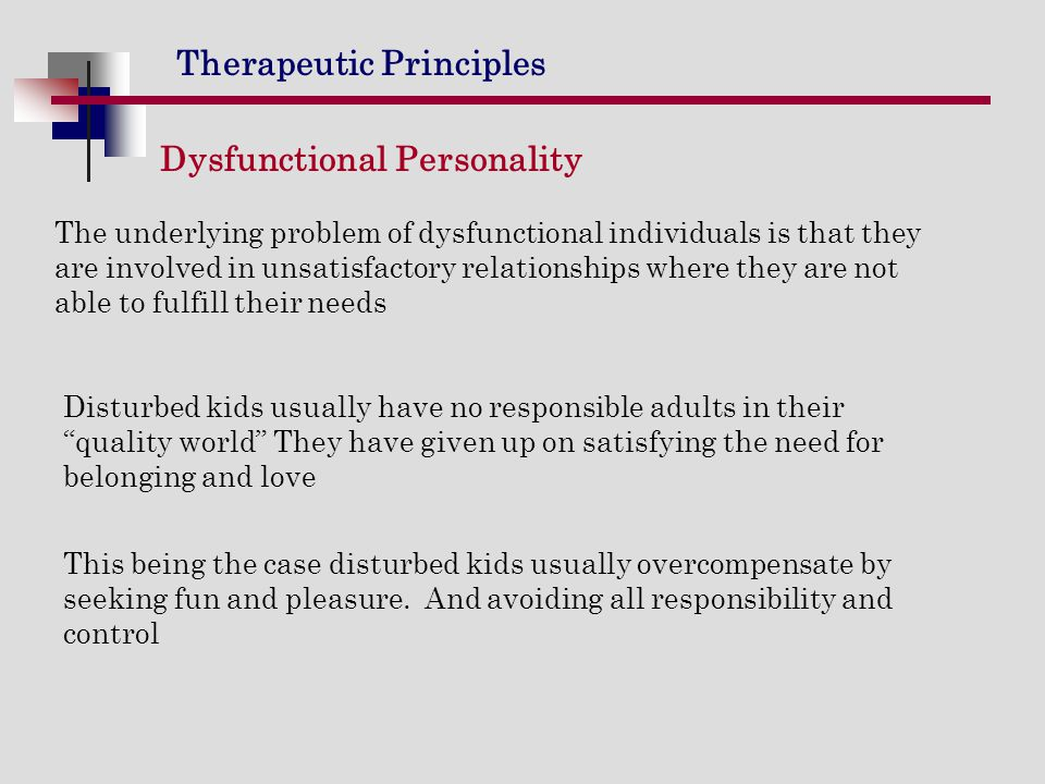 Dysfunctional Personality