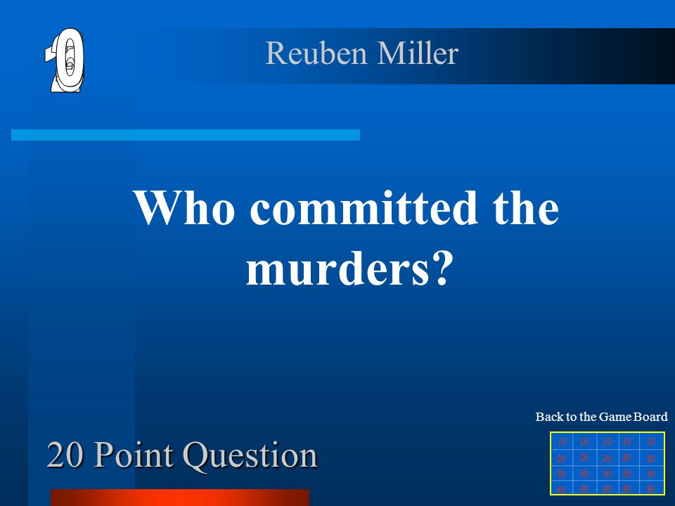 Who committed the murders