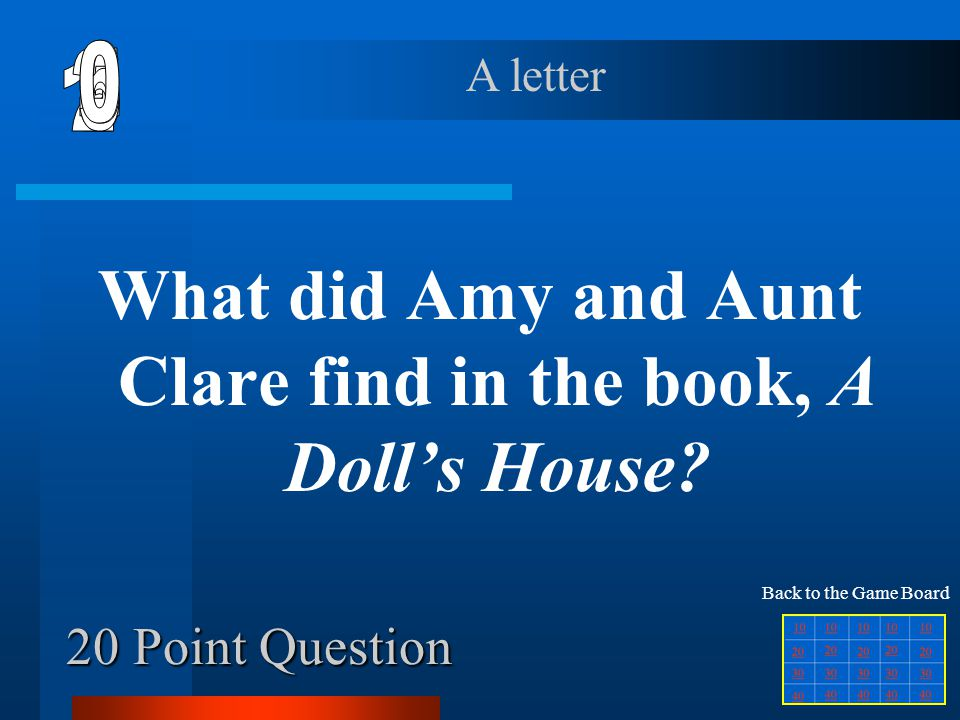 What did Amy and Aunt Clare find in the book, A Doll's House