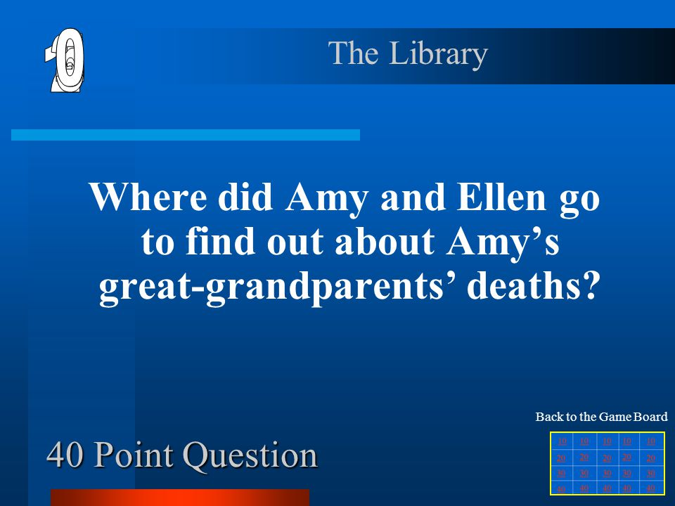 6 1 2 5 4 3 40 Point Question The Library