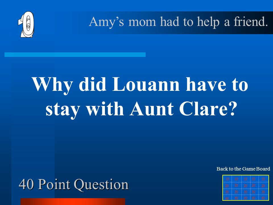 Why did Louann have to stay with Aunt Clare