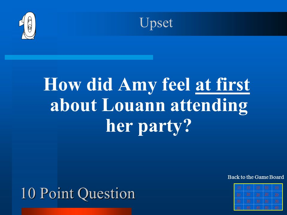 How did Amy feel at first about Louann attending her party