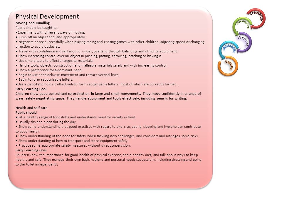 Physical Development Number Writing Values 3 Creativity