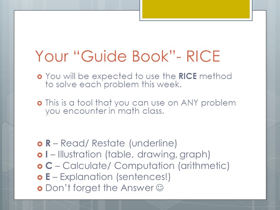 Your Guide Book - RICE