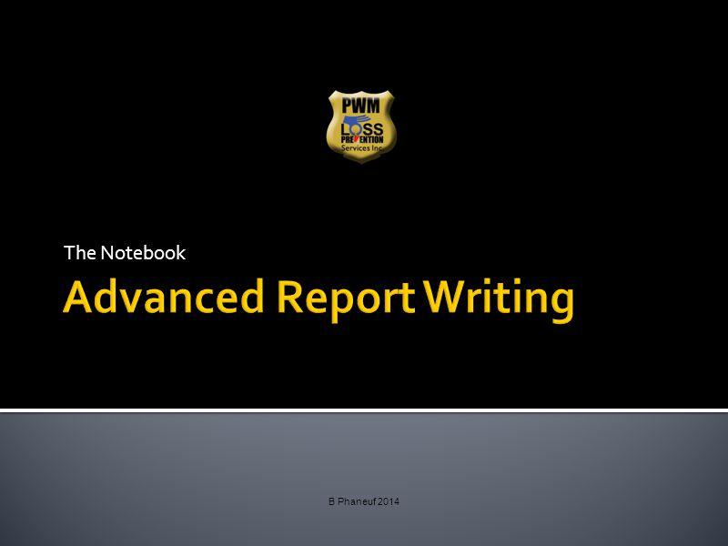 Advanced Report Writing