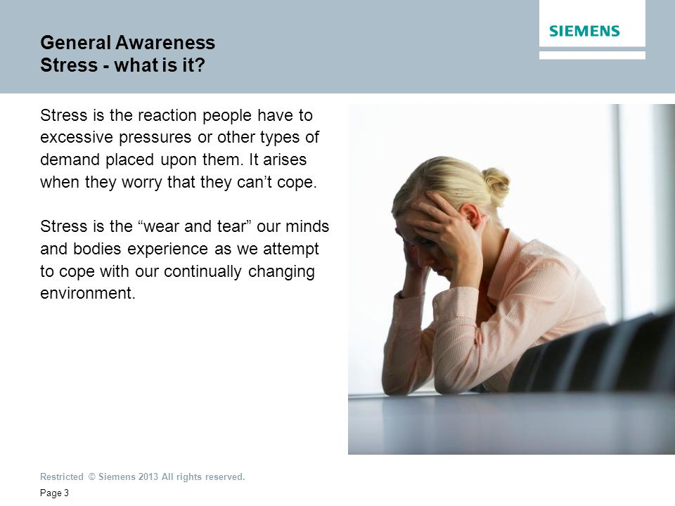 General Awareness Stress - what is it